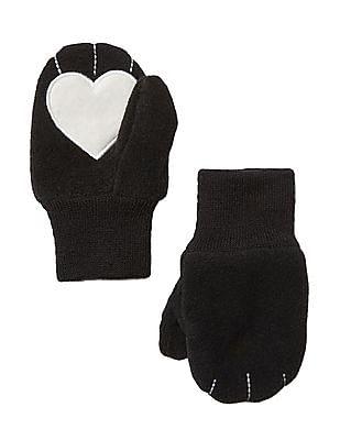 GAP Baby Pro Fleece Heart Mittens