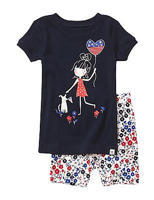 GAP Baby Americana Day Short Sleep Set