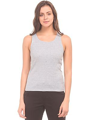 Unlimited Heathered Ribbed Knit Tank