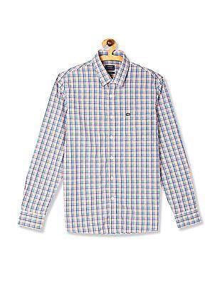 Arrow Sports Pink Slim Fit Cotton Shirt