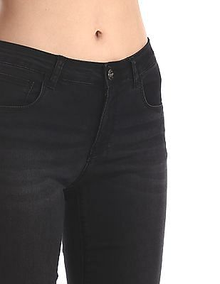 Cherokee Black Slim Fit Washed Jeans
