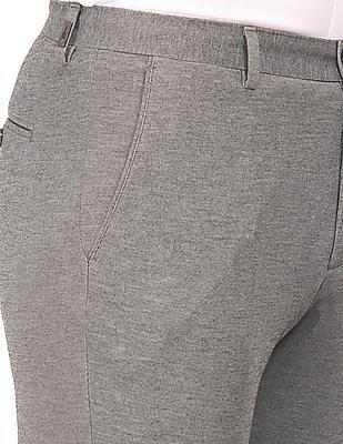 Arrow Newyork Heathered Slim Fit Trousers
