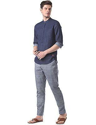 True Blue Slim Fit Pop Over Shirt