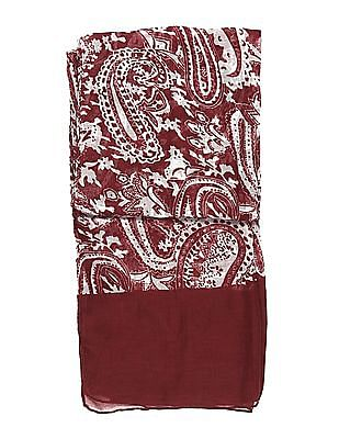 SUGR Red Paisley Print Stole