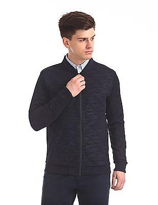 Arrow Newyork Printed Zip Up Sweat Jacket