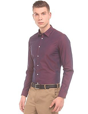 Arrow Newyork Slim Fit Jacquard Shirt