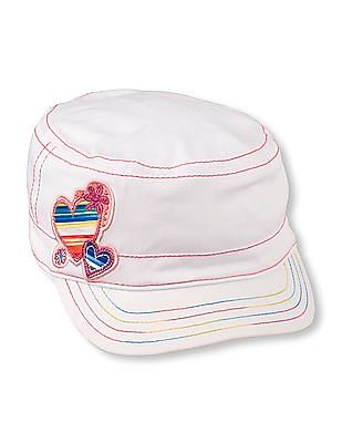 The Children's Place Girls Rainbow Heart Baseball Cap