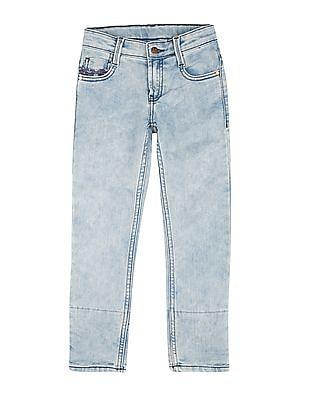FM Boys Boys Skinny Fit Washed Jeans