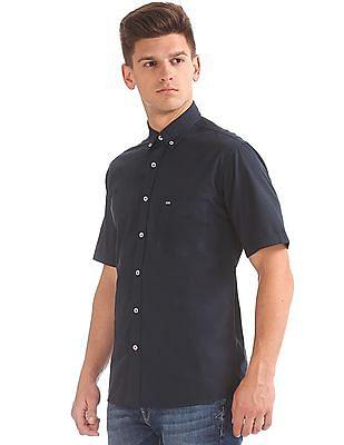 Arrow Sports Short Sleeve Button Down Shirt