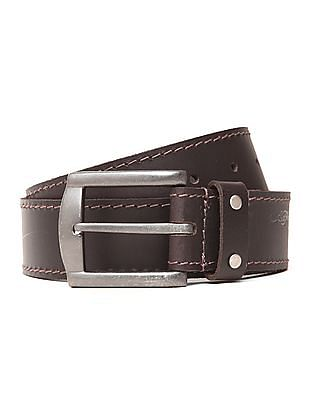 Ed Hardy Broad Buckle Leather Belt
