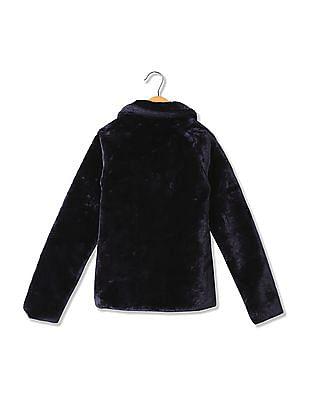 U.S. Polo Assn. Kids Girls Regular Fit Full Sleeve Jacket
