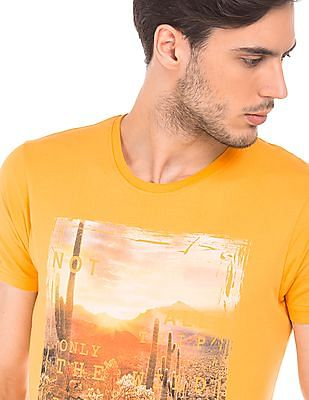 Ruggers Regular Fit Printed T-Shirt