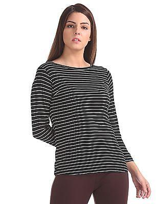 Elle Studio Striped Full Sleeve Top