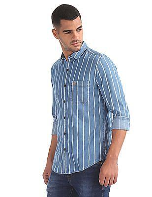 U.S. Polo Assn. Denim Co. Striped Denim Shirt
