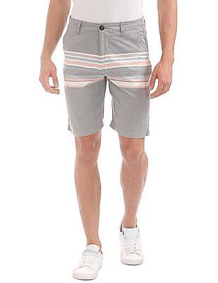 Aeropostale Engineered Stripe Woven Shorts