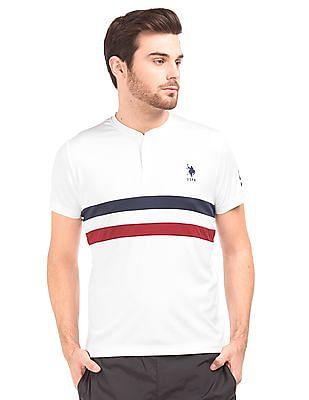 USPA Active Dual Stripe Henley T-Shirt