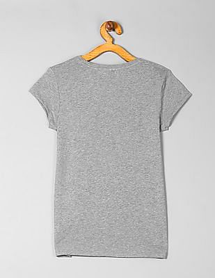 GAP Girls Printed Heathered T-Shirt