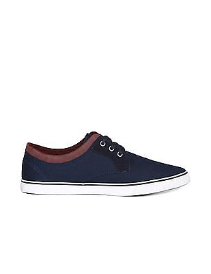 Flying Machine Panelled Topline Canvas Sneakers