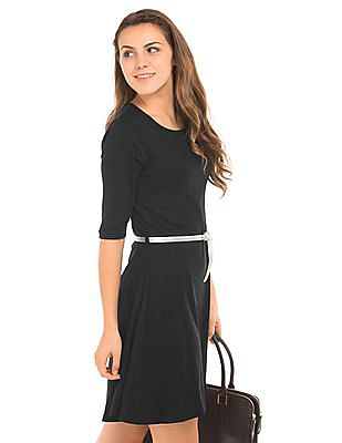 SUGR Belted Skater Dress