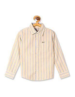 FM Boys Boys Striped Cotton Shirt