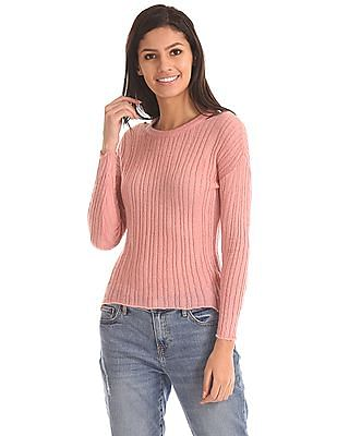 Aeropostale Long Sleeve Patterned Knit Sweater