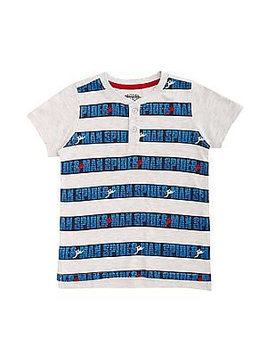 Colt Boys Printed Henley T-Shirt