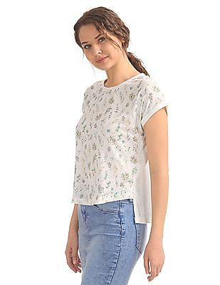 Cherokee Printed Front Knit Top