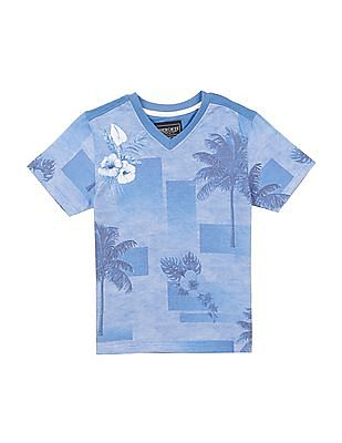 52bb33062cf Cherokee Boys Printed V-Neck T-Shirt