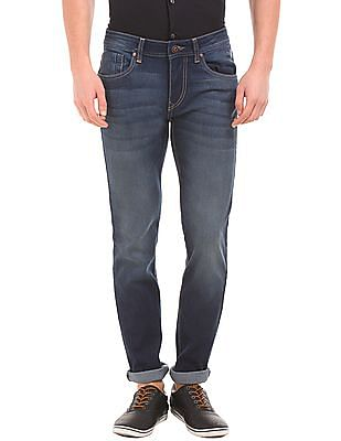 Flying Machine Dark Wash Slim Tapered Jeans