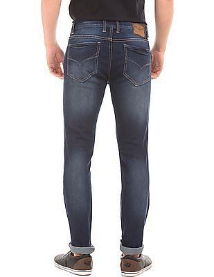 Flying Machine Dark Wash Slim Tapered Jeans