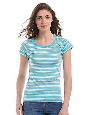 SUGR Striped Regular Fit T-Shirt