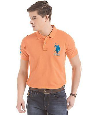 U.S. Polo Assn. Numeric Applique Slim Fit Polo Shirt