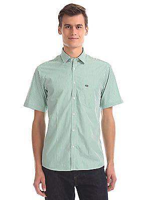 Arrow Sports Striped Short Sleeve Shirt