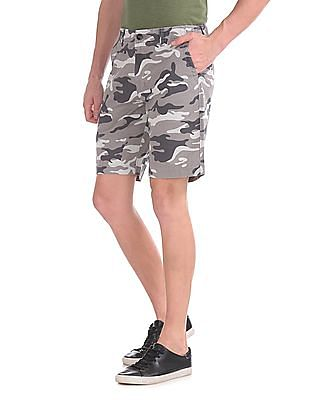 Aeropostale Camo Print Flat Front Shorts