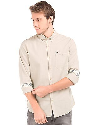 Ed Hardy Horizontal Stripe Cotton Shirt