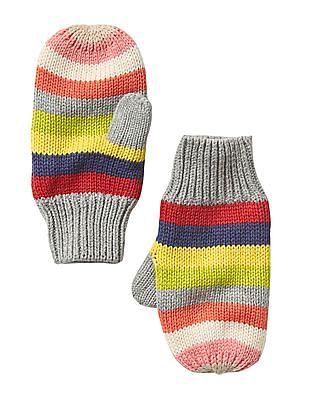 GAP Baby Crazy Stripe Mittens