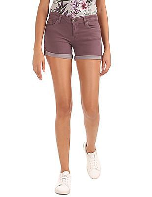 Aeropostale High Waist Denim Shorts