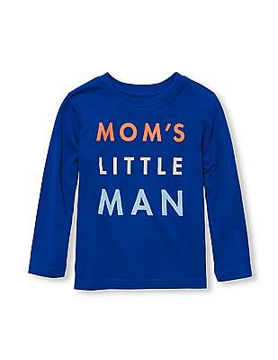 The Children's Place Toddler Boy Long Sleeve 'Mom's Little Man' Graphic Tee
