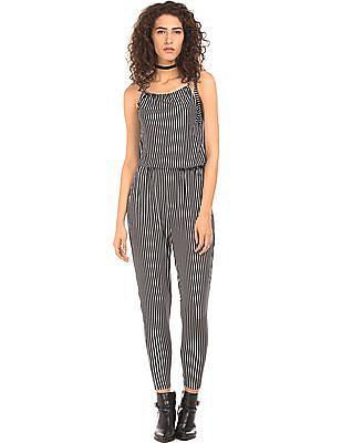 EdHardy Women Striped Regular Fit Jumpsuit