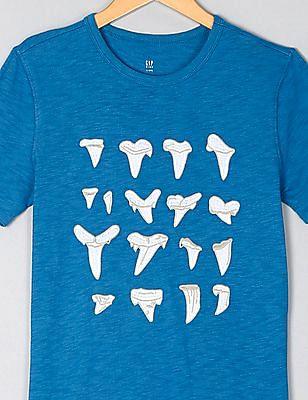 GAP Boys Blue Graphic Short Sleeve T-Shirt