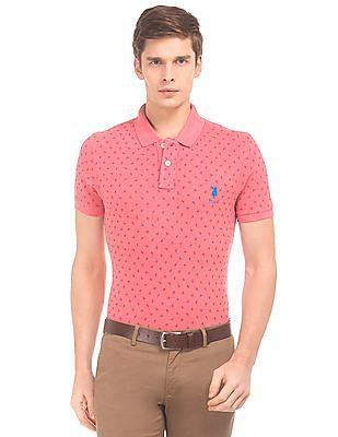 U.S. Polo Assn. Paisley Print Slim Fit Polo Shirt
