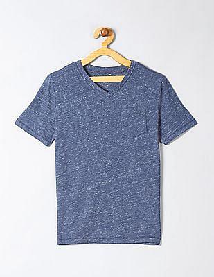 GAP Boys Blue Pocket V-Neck T-Shirt
