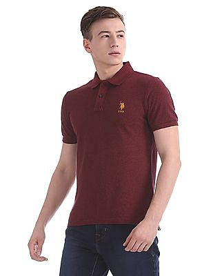 U.S. Polo Assn. Regular Fit Heathered Polo Shirt