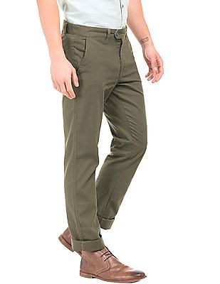 Ruggers Mid Rise Slim Fit Trousers