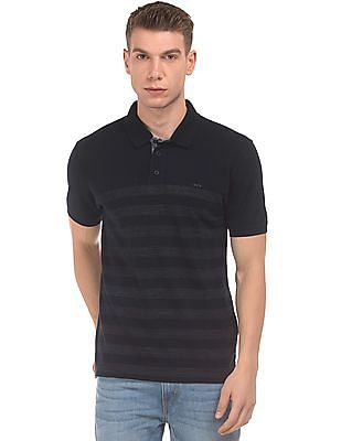 Izod Striped Pique Polo Shirt