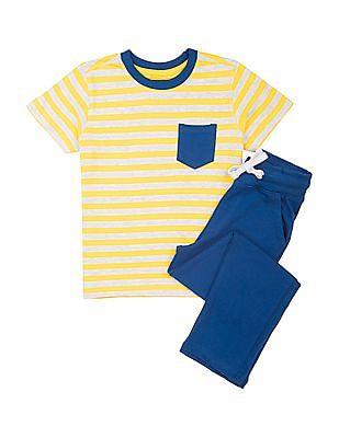 Cherokee Boys Printed T-Shirt And Pants Set