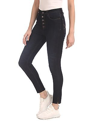 Aeropostale Blue High Waist Rinsed Jeans