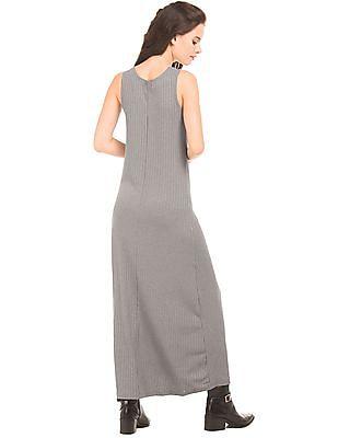 Elle Ribbed Knit Maxi Dress