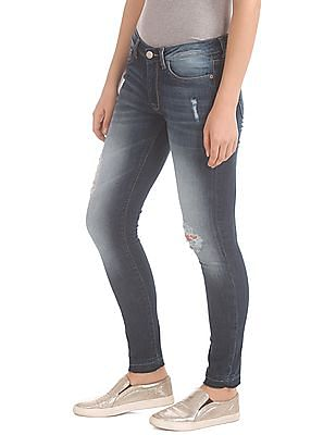 Aeropostale Low Rise Distressed Jeans