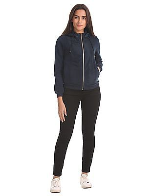 Elle Detachable Hood Panelled Sweatshirt